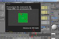 """Grafika 3D: Blender, cz. XVII – animacja – ćwiczenie """"Kostka"""" - Kostka do centrum z rotacją i skalowaniem"""