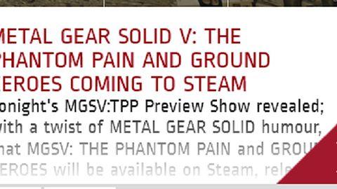 Metal Gear Solid V pojawi się na PC! O 20 startuje konferencja Konami