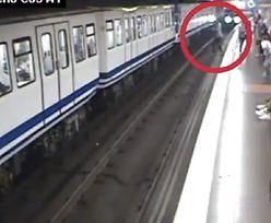 Metro ujawniło szokujące nagranie. Kobieta weszła prosto pod pociąg