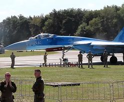 Su-27. Groźny incydent na lotnisku. Ludzie weszli pod silnik [Zobacz WIDEO]