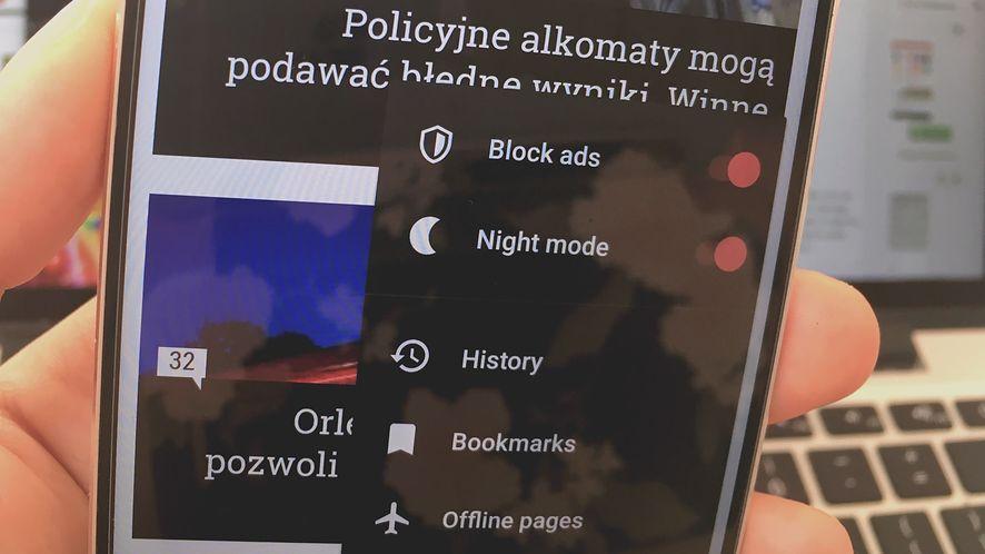 Nowa Opera dla Androida dostała tryb nocny i obsługę motywów