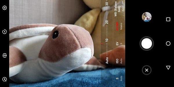 Jedną z zalet Meizu 16X jest zaawansowany i intuicyjny tryb manualny aparatu.