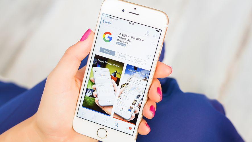 Aplikacja Google w App Store z depositphotos