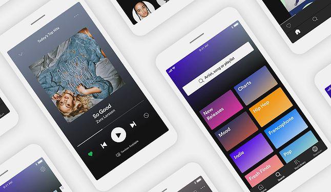 Nowy kafelkowy interfejs Spotify.
