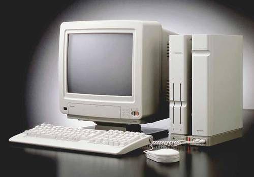 Sharp X68000 pierwszy model. Występował też w równie pięknej, czarnej wersji.