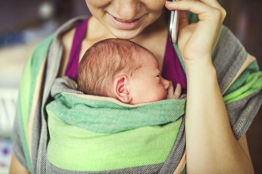 Chusta do noszenia niemowlaka