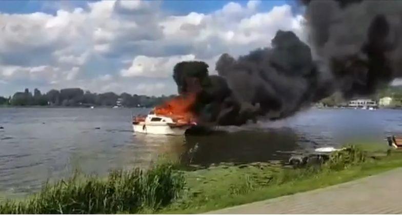 Ostróda. Wybuch na łodzi pełnej dzieci. Cztery osoby w szpitalu