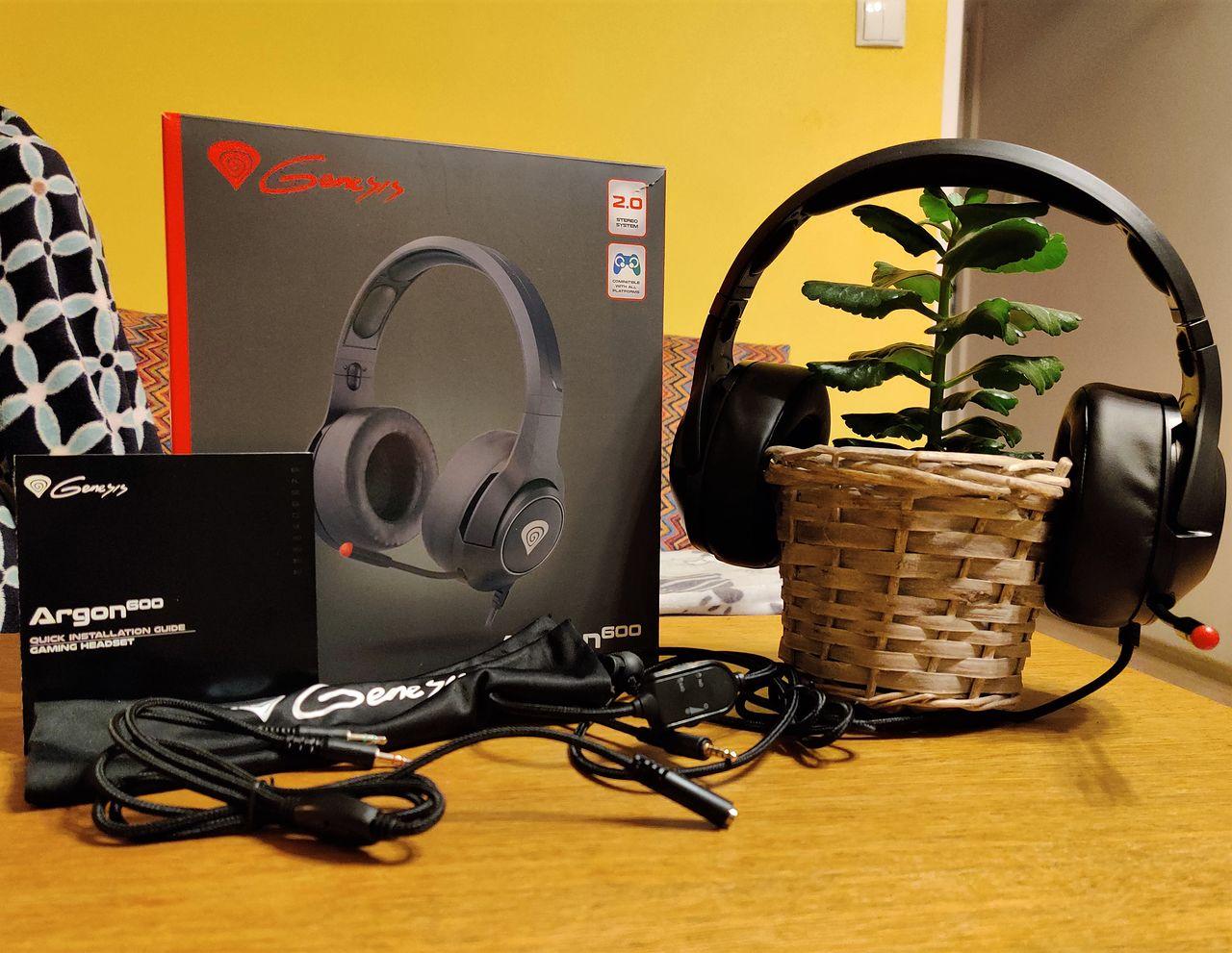 Genesis Argon 600 - przystępne cenowo słuchawki z mikrofonem
