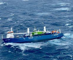 Dryfujący statek w Morzu Północnym. Wideo mrozi krew w żyłach