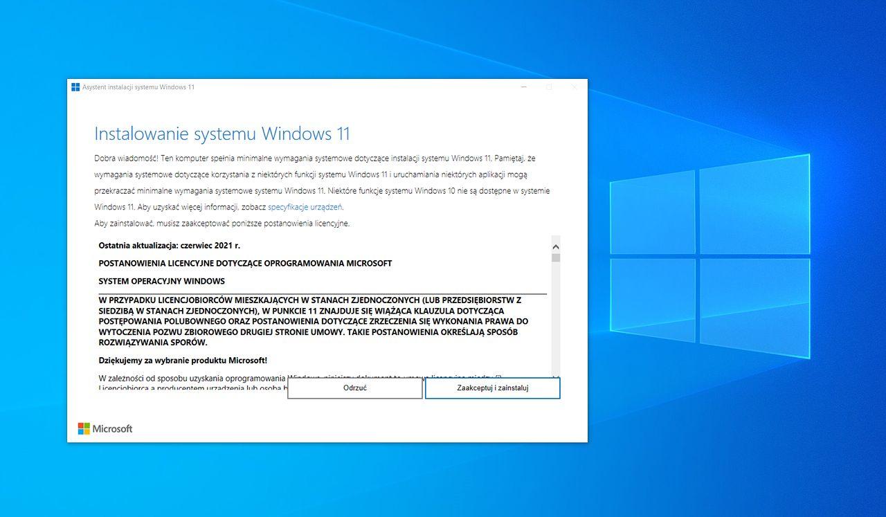 Windows 11: pobierz system z Asystentem instalacji - na własne ryzyko - Asystent instalacji Windows 11