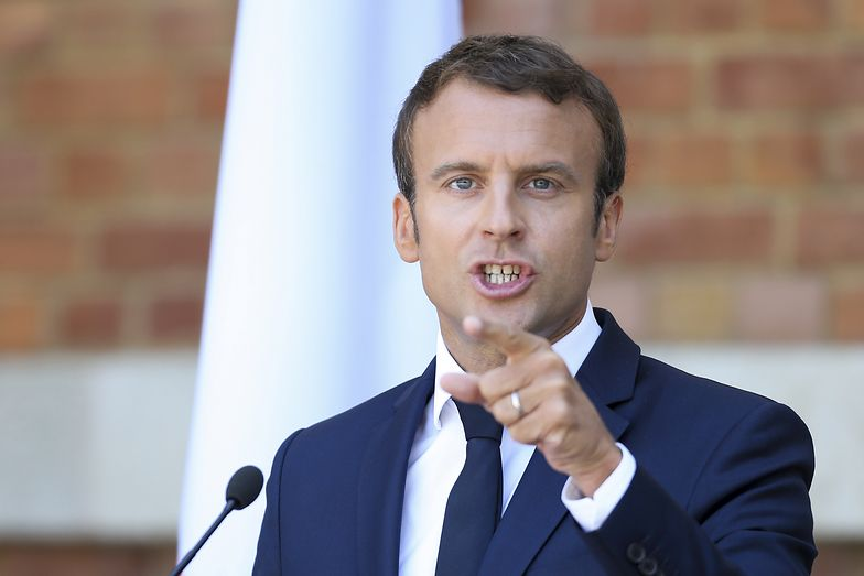 Prezydent Francji Emmanuel Macron w Warnie ostro skrytykował polski rząd