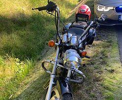 Pijany motocyklista ciągnął za sobą własny akumulator. Wjechał w tył radiowozu