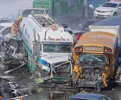 Gigantyczny karambol w Kanadzie. Ponad 200 aut rozbitych