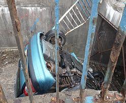 Śląskie. Auto dachowało w przejściu podziemnym. Ukrainiec nie ustąpił
