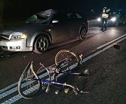 Lubelskie. Tragiczny wypadek rowerzysty. Mężczyzna nie żyje
