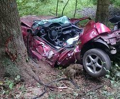 Tragedia w Strzyżowie w Podkarpackiem. Zwłoki w aucie rozbitym na drzewie