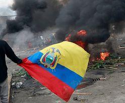 Zamieszki w Ekwadorze. Godzina policyjna. Armia ze zgodą na użycie siły