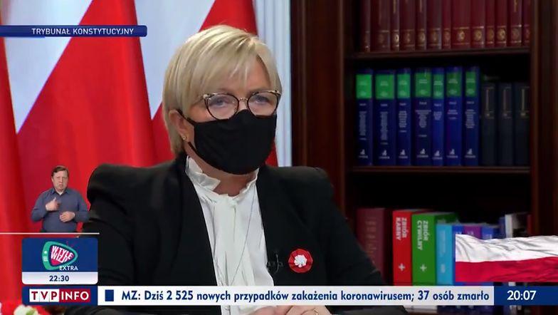 To był bardzo jasny komunikat. Julia Przyłębska pojawiła się 3 maja w TVP