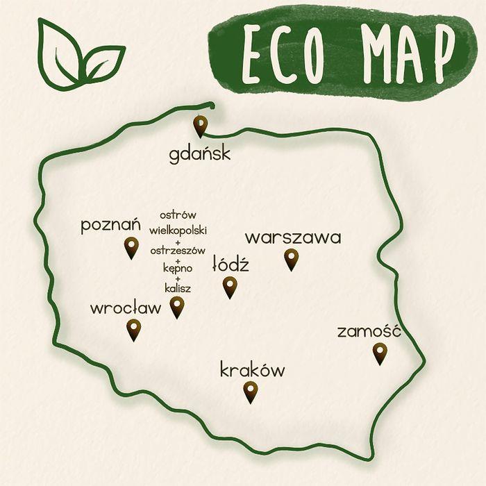 mapa eko sklepów w Polsce