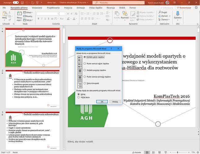 PowerPoint zawiera także mechanizmy zorentowane na zwiększenie produktywności, ale ponieważ profesjonalizm jest dziś niemodny, mają one wciąż stary interfejs
