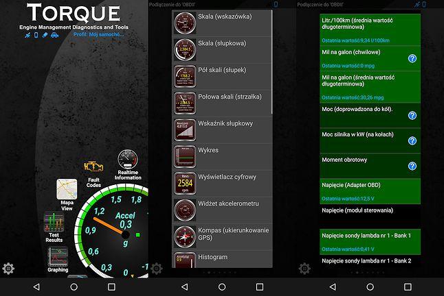 Torque na Androidzie.