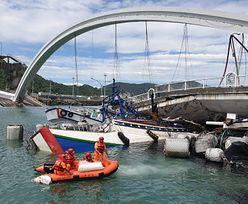 Na Tajwanie runął most. Przerażające wideo