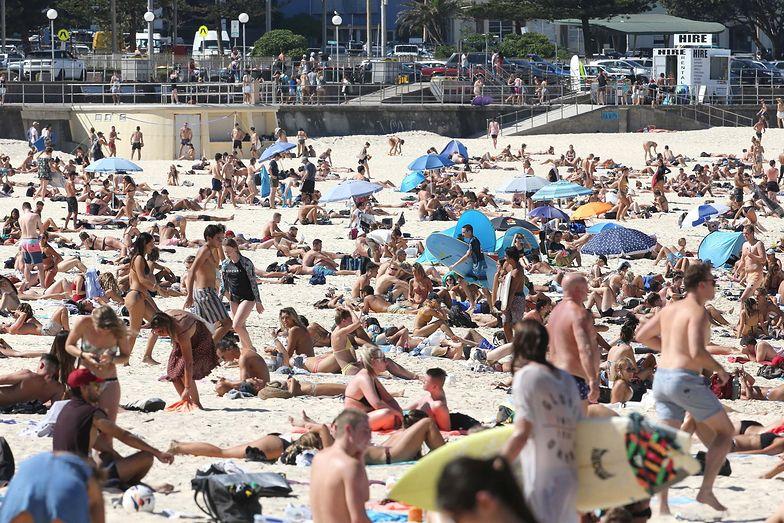 Plaża w Sydney podczas pandemii koronawirusa