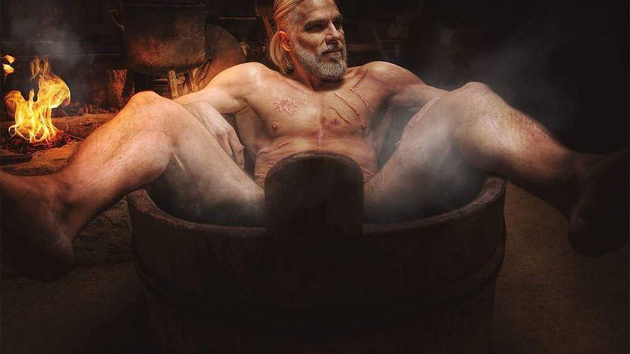 Rozchodniaczek: rozebrany Geralt reanimuje swojego peceta pod Verdun