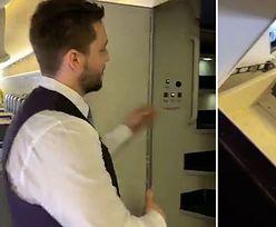 Steward zaskoczył nagraniem. Pokazał tajemne miejsca Boeinga