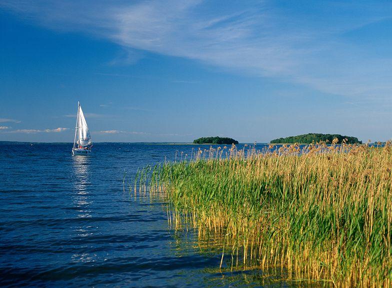 """Cały obszar Śniardw objęty jest ochroną w ramach Mazurskiego Parku Krajobrazowego, dodatkowo utworzono tu także obszar specjalnej ochrony ptaków """"Puszcza Piska"""""""