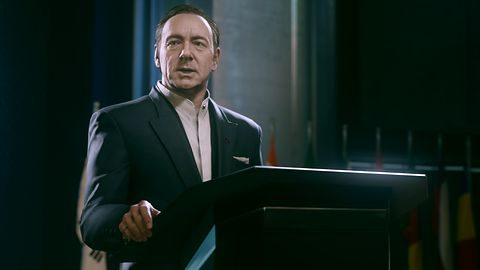 Kevin Spacey prosi się o utarcie mu nosa - nowy zwiastun Call of Duty: Advanced Warfare skupia się na fabule