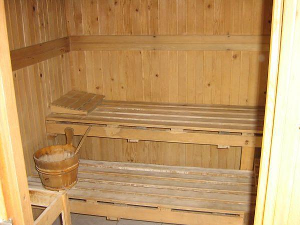 Wnętrze sauny - działanie
