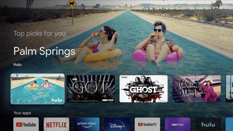 Interfejs Google TV, źródło: Blog Google
