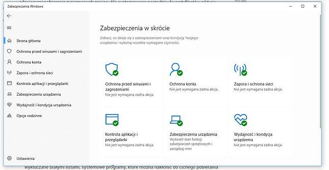 Windows Defender twierdzi, że wszystko jest w porządku - szkoda, że musi w tym celu uciekać się do skanerów behawioralnych