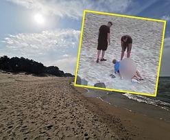 Skandal na plaży. Nieobyczajne zachowanie w Mielnie