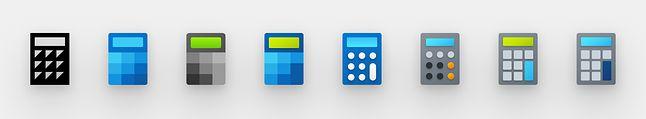 Rozwój ikony kalkulatora