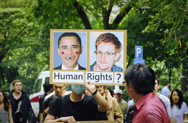 areszt Snowdena wywołał falę protestów - dotarły nawet do Hong Kongu, fot. Jessica Hromas/Getty Images