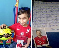9-letni Kuba napisał do Lewandowskiego. Wzruszające słowa młodego kibica