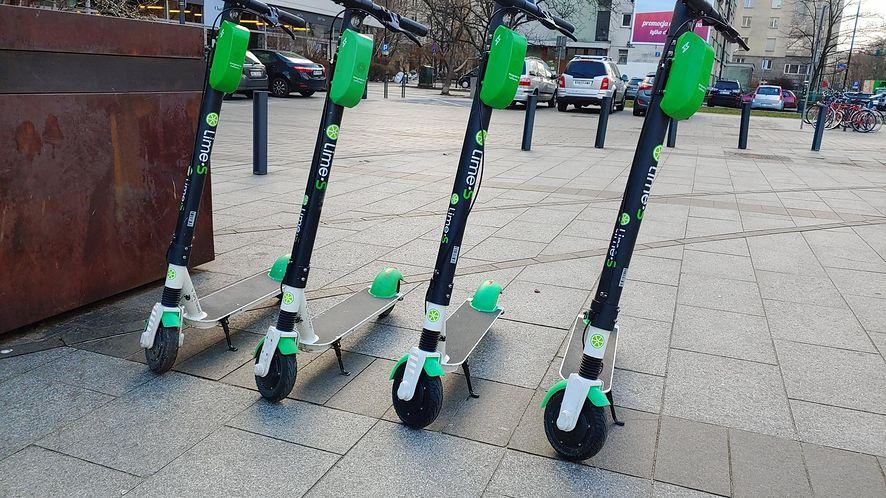Hulajnogi Lime w Warszawie