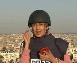 Nagranie ze Strefy Gazy. Bomba uderzyła podczas wejścia na żywo