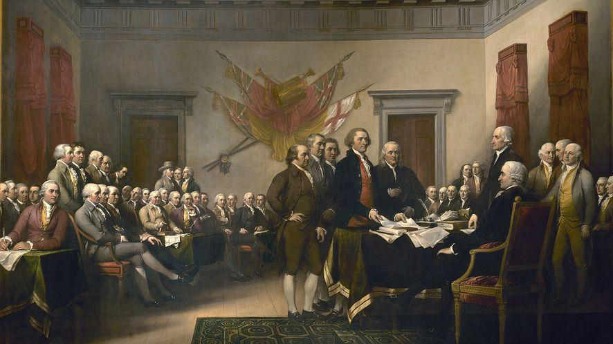 Podpisanie Deklaracji niepodległości, John Trumbull (1819)