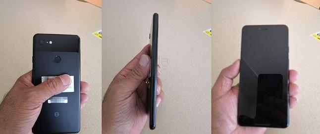 Grafiki przedstawiające rzekomy prototyp smartfonu Pixel 3. Źródła: Android Authority, XDA Developers.