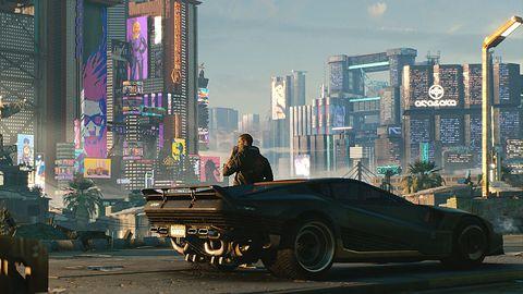 """Cyberpunk 2077 na nowej tesli. Elon Musk: """"wydajność na poziomie PS5"""""""