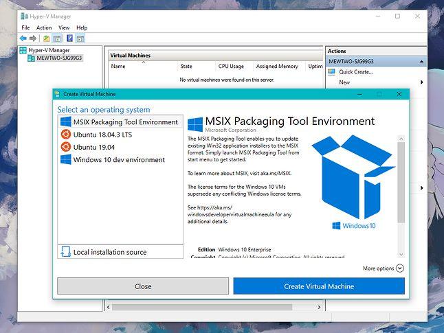 Client Hyper-V: potężne i proste w użyciu narzędzie do wirtualizacji, wbudowane w Windows (fot. Kamil Dudek)