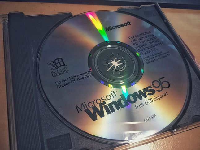 Windows 95 mógł być zainstalowany na 80 megabajtach (fot. Kamil Dudek)