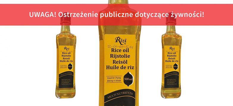 GIS wycofuje olej z ryżu Rizi