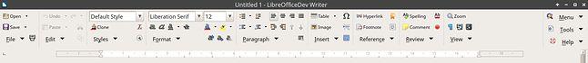 Notebookbar we Writerze