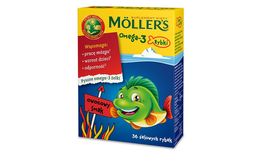 Moller's Omega-3 Rybki owocowe