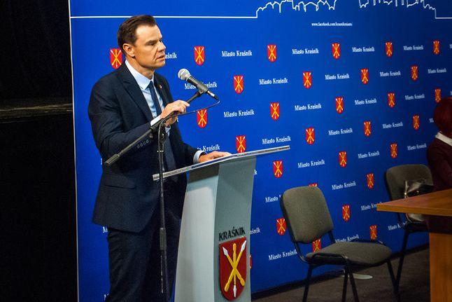Tomasz Saj, radny PiS głosujący za uchwałą anty-5G, fot. UM Kraśnik