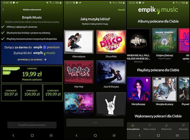 Tak wygląda interfejs aplikacji Empik Music, fot. Jakub Krawczyński